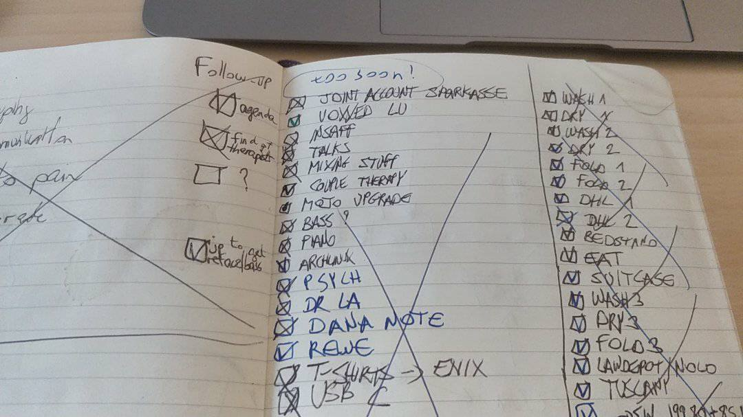 Old school to-do list on a notebook